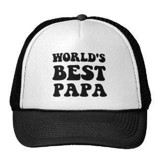 Worlds best papa trucker hat