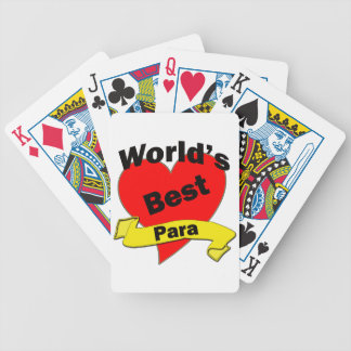 World's Best Para Bicycle Playing Cards