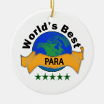 World's Best Para Double-Sided Ceramic Round Christmas Ornament