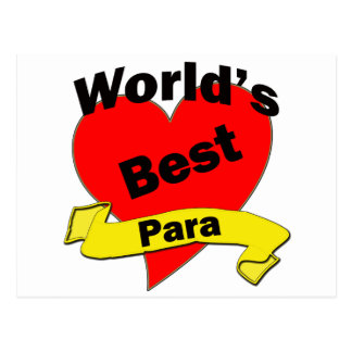 World's Best Para Postcards