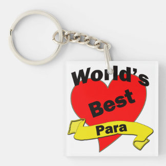 World's Best Para Single-Sided Square Acrylic Keychain