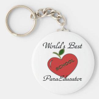 World's Best ParaEducator Keychain