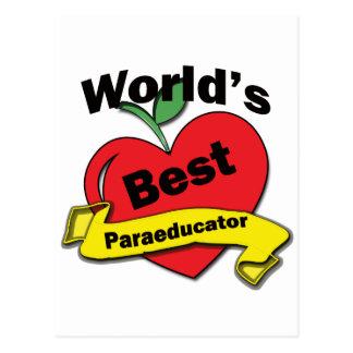 World's Best Paraeducator Postcard