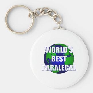 World's Best Paralegal Basic Round Button Keychain