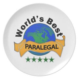 World's Best Paralegal Dinner Plate