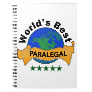 World's Best Paralegal Spiral Notebook