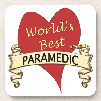 World's Best Paramedic Beverage Coaster