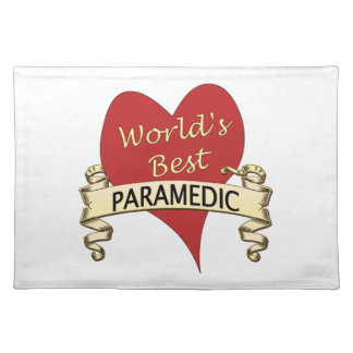 World's Best Paramedic Cloth Placemat