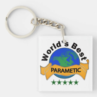 World's Best Paramedic Single-Sided Square Acrylic Keychain