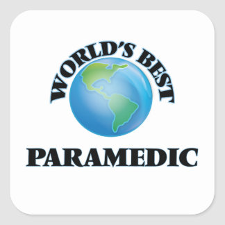 World's Best Paramedic Square Sticker
