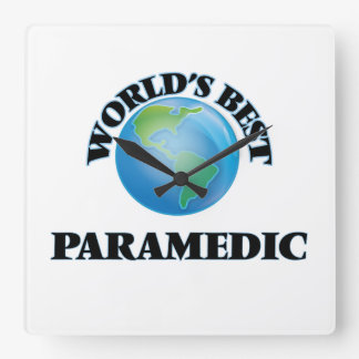 World's Best Paramedic Square Wall Clock