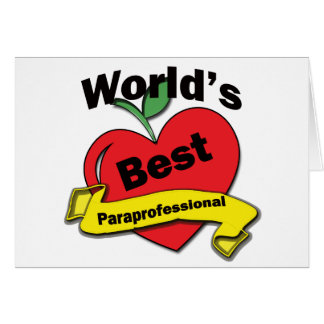 World's Best Paraprofessional Card