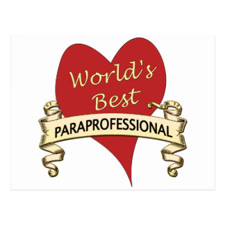 World's Best Paraprofessional Postcard