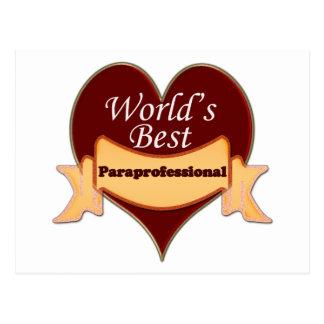 World's Best Paraprofessional Postcard