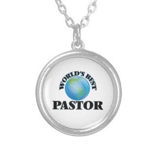 World's Best Pastor Round Pendant Necklace