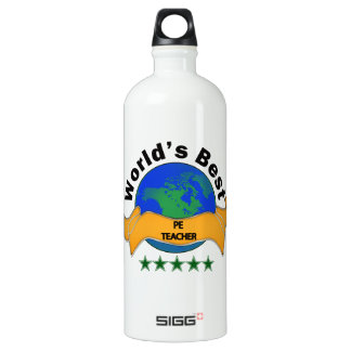 World's Best PE Teacher Aluminum Water Bottle