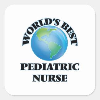 World's Best Pediatric Nurse Square Sticker