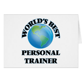 World's Best Personal Trainer Card