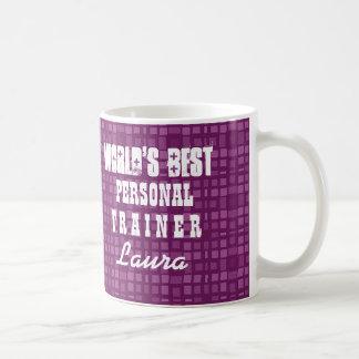 World's Best PERSONAL TRAINER Geometric Squares Z3 Coffee Mug