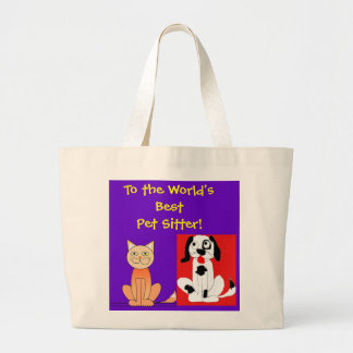 World's Best Pet Sitter Large Tote Bag