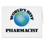 World's Best Pharmacist Large Greeting Card