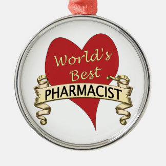 World's Best Pharmacist Metal Ornament