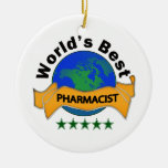 World's Best Pharmacist Double-Sided Ceramic Round Christmas Ornament