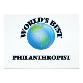 """World's Best Philanthropist 5"""" X 7"""" Invitation Card"""