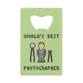 World's Best Photographer Credit Card Bottle Opener