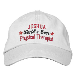 World's Best PHYSICAL THERAPIST Custom Name V01 Embroidered Baseball Cap