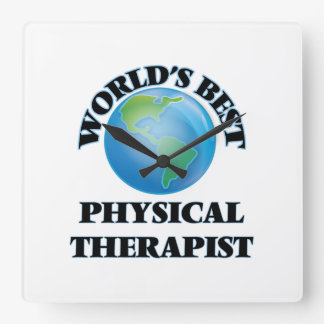 World's Best Physical Therapist Square Wall Clock
