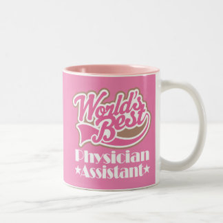 Worlds Best Physician Assistant Recognition Gift Two-Tone Coffee Mug