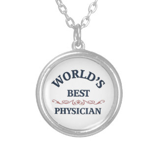 World's best Physician Silver Plated Necklace