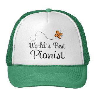 Worlds Best Pianist Orange Trucker Hat