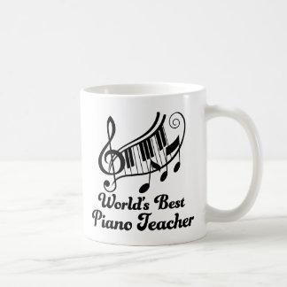 Worlds Best Piano Teacher Classic White Coffee Mug