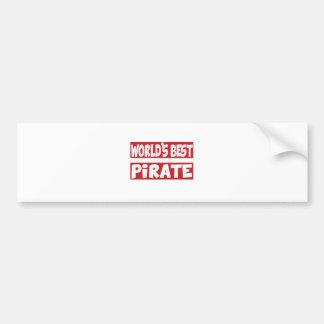 World's Best Pirate. Car Bumper Sticker