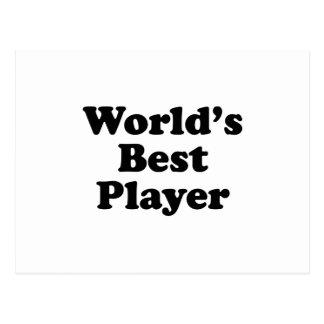 World's Best Player Postcard