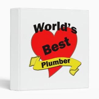 World's Best Plumber 3 Ring Binder