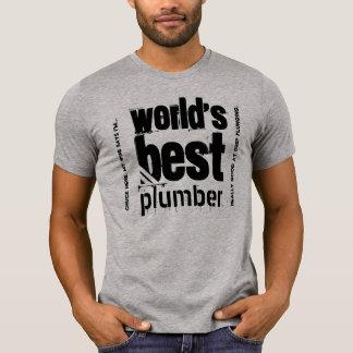 World's Best Plumber Custom Text B09 SILVER BLACK T-Shirt