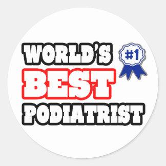 World's Best Podiatrist Classic Round Sticker