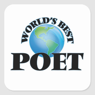World's Best Poet Square Stickers
