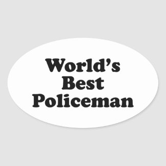 World's Best Policeman Oval Sticker