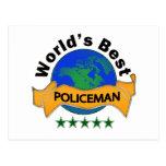 World's Best Policeman Postcard