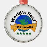 World's Best Policewoman Ornament