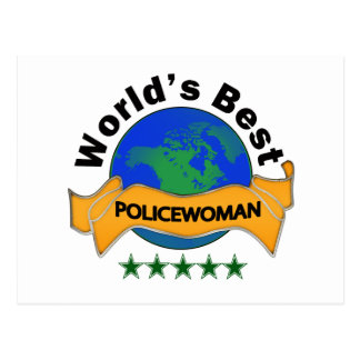 World's Best Policewoman Postcards