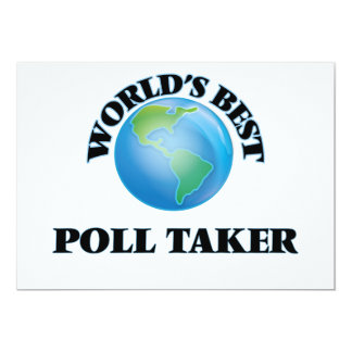 World's Best Poll Taker Cards