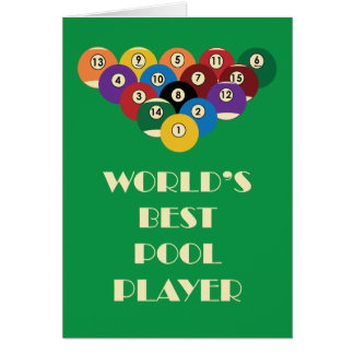 World's Best Pool Player Card