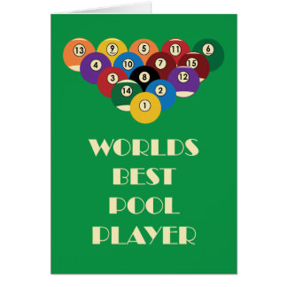Worlds Best Pool Player Card
