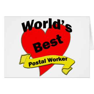 World's Best Postal Worker Card