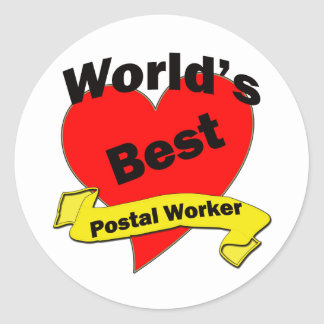 World's Best Postal Worker Classic Round Sticker